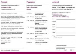 Programm Fortbildung Diabetes und Herz
